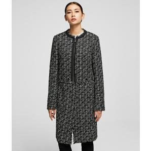 Karl lagerfeld transforming boucle coat 96KW1406