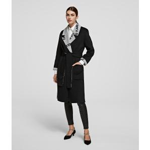 KARL LAGERFELD Double Faced Wrap Coat 206W1203-996