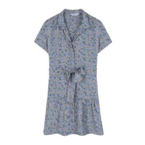 Compania Fantastica blue floral shift dress SS20SAM22