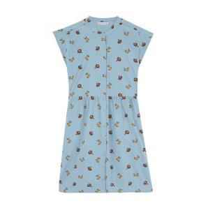 pania Fantstica blue swimmer print shirt dress SS20PIC06