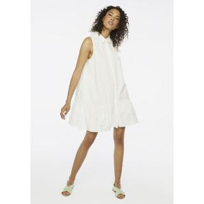 Compania Fantastica white ruffle shirt dress SS20HAN98