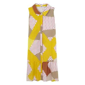 Compania Fantastica geometric polka dot shirt dress SS20HAN68