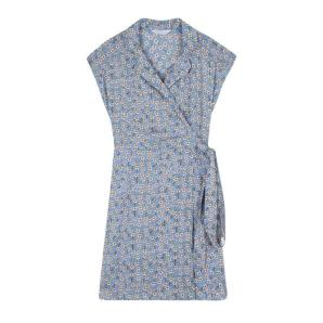 Compania Fantastica blue floral wrap dress SS20SAM21
