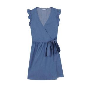 Compania Fantastica denim blue wrap dress SS20HAN91