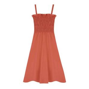 Compania Fantastica orange strappy midi dress SS20HAN60