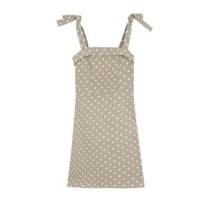 Compania Fantastica beige polka dot strappy dress SS20HAN85