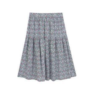 Compania Fantastica black floral midi skirt SS20COC10
