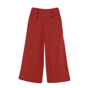 Compania Fantastica red wide leg trousers with buttons SS20SAM63