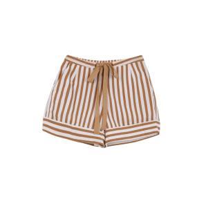 Compania Fantastica brown striped mini shorts SS20SAM26