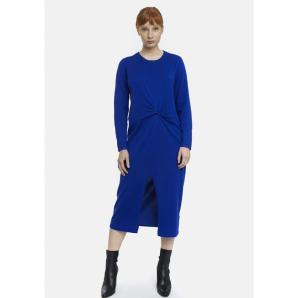 COMPANIA FANTASTICA blue knit dress with knot FA20DEJ02
