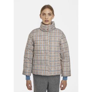 COMPANIA FANTASTICA check print padded coat FA20HAN135