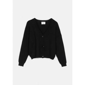 COMPANIA FANTASTICA black dropped shoulder cardigan FA20CHU22