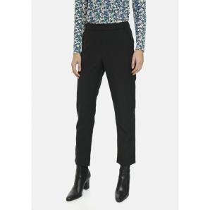 COMPANIA FANTASTICA black cropped straight leg trousers FA20HAN28