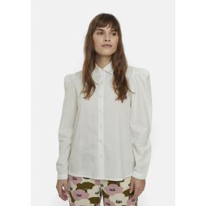 COMPANIA FANTASTICA white poplin shirt with full shoulders FA20SHE31