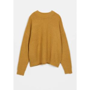 COMPANIA FANTASTICA textured oversize jumper in yellow FA20KAI24