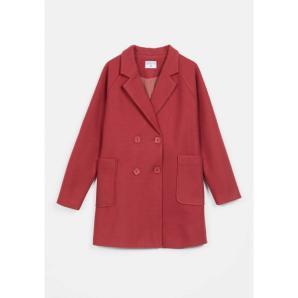 COMPANIA FANTASTICA pink boucle-breasted coat FA20HAN94