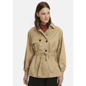 COMPANIA FANTASTICA short trench coat with tie FA20HAN92