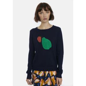 COMPANIA FANTASTICA fine-knit jumper with pear patch FA20KAI02