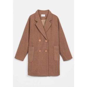 COMPANIA FANTASTICA double-breasted coat with lapels FA20HAN95