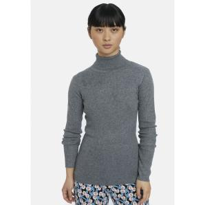 COMPANIA FANTASTICA grey fitted ribbed knit jumper WI20DEJ31