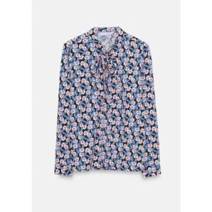 COMPANIA FANTASTICA blue retro floral shirt WI20HAN54