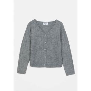 COMPANIA FANTASTICA grey ribbed knit cardigan WI20CHU18