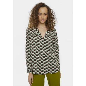 COMPANIA FANTASTICA retro geometric print shirt WI20COC33
