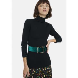 COMPANIA FANTASTICA black ribbed knit jumper WI20DEJ28