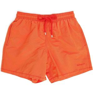 Vilebrequin Orange Moorea Micro-Chevron Swim Shorts