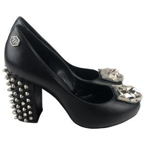 Philipp Plein leather miss heels