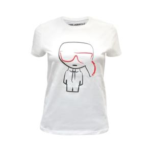 Karl Lagerfeld k/ikonik outline t-shirt 201W1738