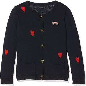 Scotch & Soda Girl's Heart Intarsia Cotton Cardigan Jumper