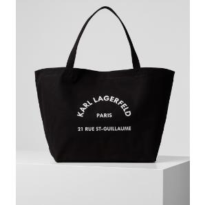 KARL LAGERFELD K/RUE GUILLAUME CANVAS TOTE  201W3138