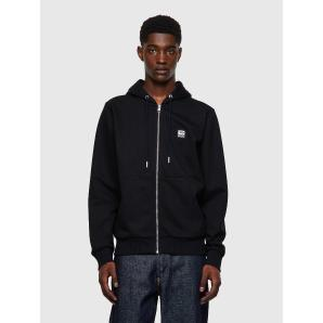 DIESEL S-GIRK-HOOD-ZIP-K1 Zip-up hoodie with D logo patch A00327-0HAYT-9XX