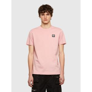 DIESEL t-shirt with D logo patch A00356-0AAXJ