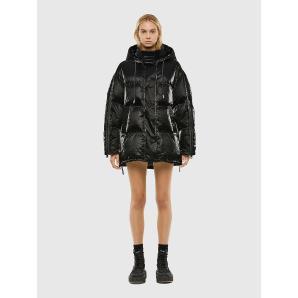 DIESEL W-DERK Hooded down jacket in coated Tyvek A00677-0IAZK-9XX