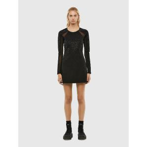 DIESEL D-BRILLA Milano-knit dress with mesh inserts A00747-0IBAE-9XX