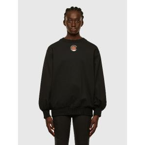 DIESEL F-CIONDY Sweatshirt with cut-out bishop sleeves A00749-0NAZQ-9XX