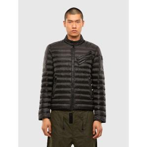 DIESEL W-DOLMIR-KA Biker jacket in quilted nylon A01246-0GBAD-9XX
