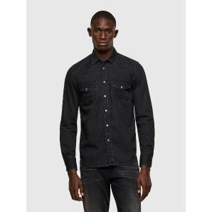 DIESEL Western shirt in washed denim A02160-0DBBG-02