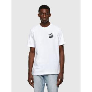 DIESEL T-shirt with folded logo patch A02369-0HAYU