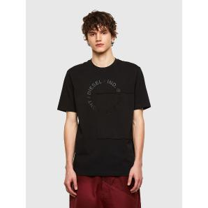 DIESEL T-shirt with patchwork Copyright logo A02405-0QBAE