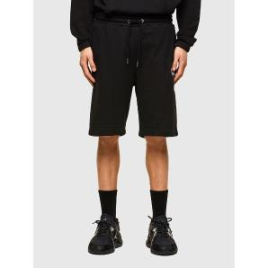 DIESEL Sweat shorts with neon logo print A02465-0BAWT