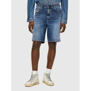 DIESEL Slim shorts in solid-colour fix denim A02648-0HBAG