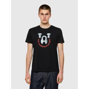 DIESEL T-DIEGOS-B3 Cotton T-shirt with hardware print A02796