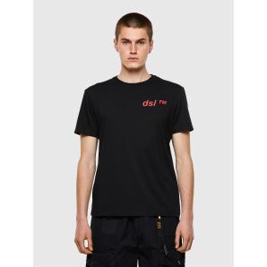 DIESEL T-DIEGOS-B5 Cotton T-shirt with dsl™ print A02799