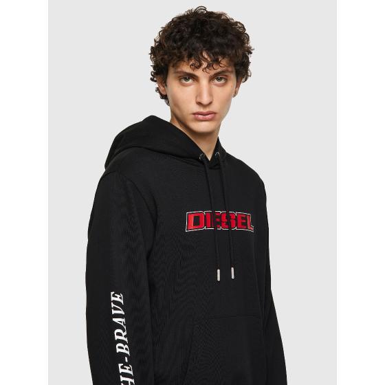 DIESEL S-GIRK-HOOD-K10 Hoodie with logo print A02967-2