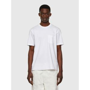DIESEL T-JUST-WORKY Cotton T-shirt with printed pocket A02992