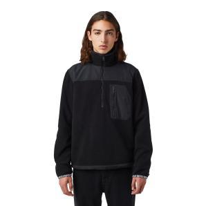 DIESEL Half-zip sweatshirt in fleece and nylon