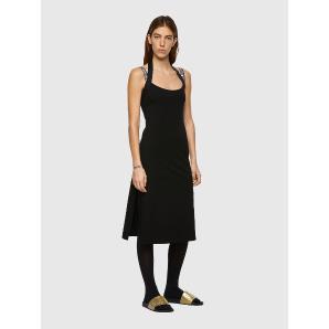DIESEL D-SAMMY Halterneck dress with logo straps A04591
